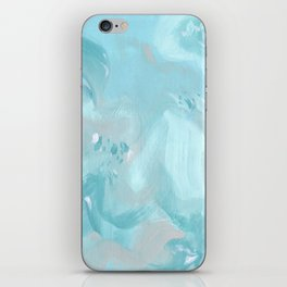 Abstract turquoise carnival iPhone Skin