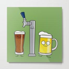 Beer Tap Trio Metal Print