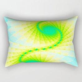 Fractal Blue Sky Gold Design Rectangular Pillow