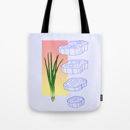 scallion cross section graphic Tote Bag