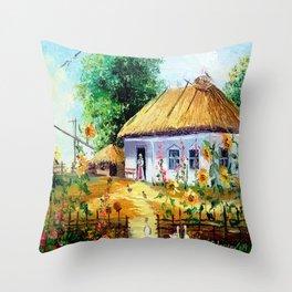 Ukrainian village Throw Pillow