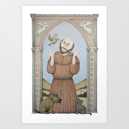 Saint Francis of Assisi Art Print