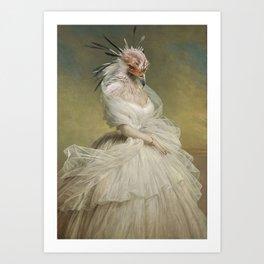 The Lady Organza Art Print
