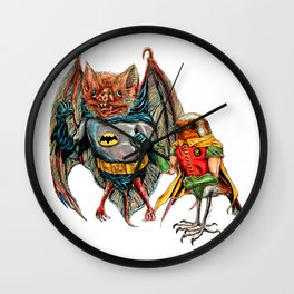 Bat and Robin Wall Clock