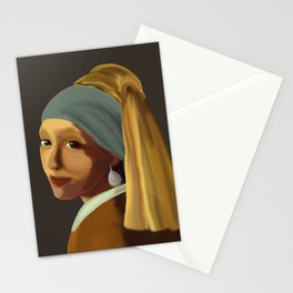 Wearing her Sister's Pearl Earring Stationery Cards