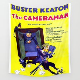 Vintage poster - The Cameraman Wall Tapestry