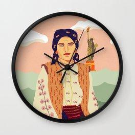 The Immigrant's Dream Wall Clock