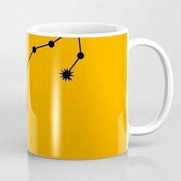 SCORPIO (BLACK-ORANGE STAR SIGN) Coffee Mug