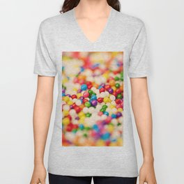 Pretty Sprinkles Unisex V-Neck