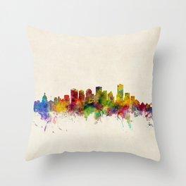 Edmonton Canada Skyline Throw Pillow