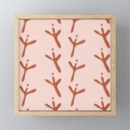 Abstract Bird Footprints Pattern Framed Mini Art Print