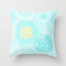 Winter sun, floral snowfall Throw Pillow
