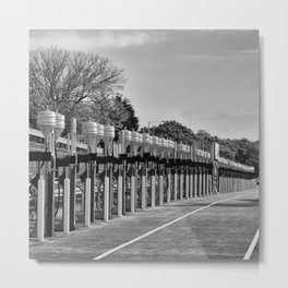 Gasoline Alley, Isle of Man Metal Print