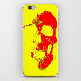 Skull - Red iPhone Skin
