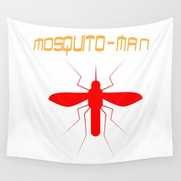 Mosquito Man Insect Comic Saying Funny Blood Super Hero Sucking Gift idea Wall Tapestry