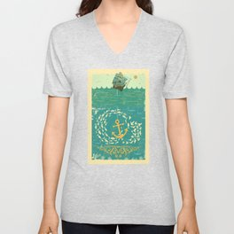 GOLDEN ANCHOR Unisex V-Neck