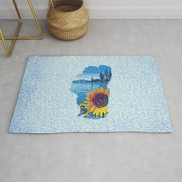 Lake Tahoe Sunflower Rug