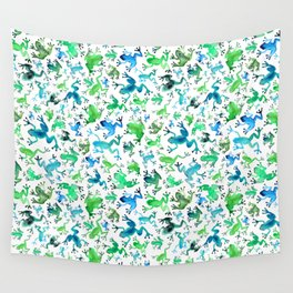 Tree Frogs Wall Tapestry