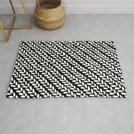 Knit Wave Black 45 Rug