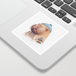 Tattooed Walrus Sticker
