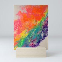 Sliding Down the Rainbow Road of Life Mini Art Print