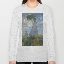 Woman with a Parasol, Monet Long Sleeve T-shirt