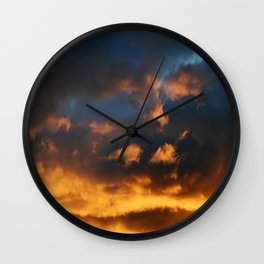 Sunset # 205 Wall Clock
