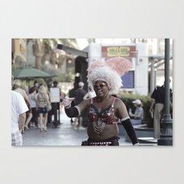 Las Vegas Street Performer Canvas Print