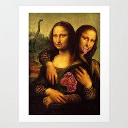 Monalisa Twins Art Print