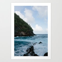 Cliffside Ocean View Art Print