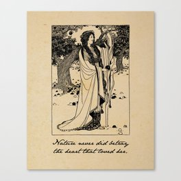 William Wordsworth - Nature Never Did Betray - Poetry Canvas Print