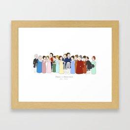 Cast of Jane Austen's Pride and Prejudice Framed Art Print