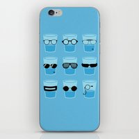 glasses iPhone & iPod Skins featuring Glasses by Zach Terrell