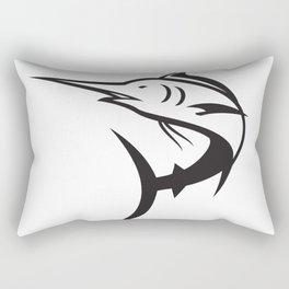 Blue Marlin Icon Rectangular Pillow