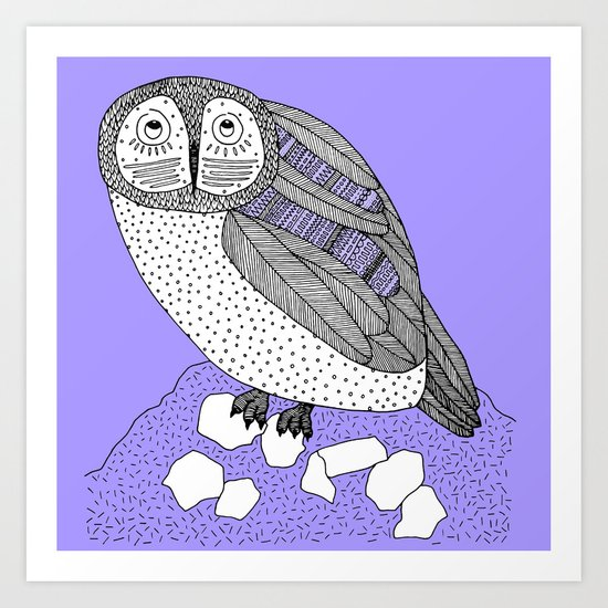 another owl square Art Print