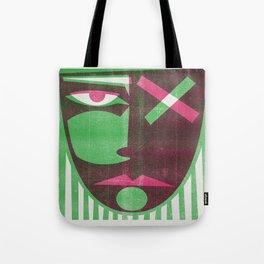 Two tone mask Tote Bag
