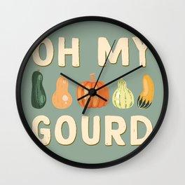 Oh My Gourd Wall Clock