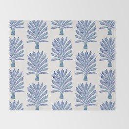 Palm Tree – Navy Palette Throw Blanket