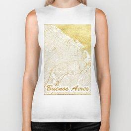 Buenos Aires Map Gold Biker Tank