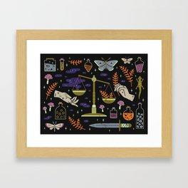 Spooky Horoscopes: Libra Framed Art Print