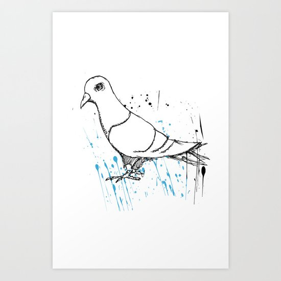Bird Of Grey Art Print