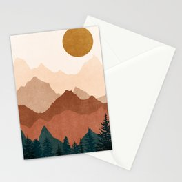 Sunset Mountain Peaks 2 Stationery Cards