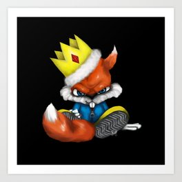 King Conker [Conker's Bad Fur Day Fan Art] Art Print