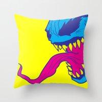 venom Throw Pillows featuring Venom. by Hussein Ibrahim