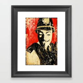 Anonymous Police Officer Framed Art Print