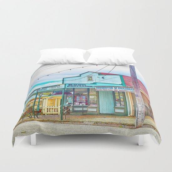 Welcoming village shop Duvet Cover