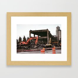 end of the road Framed Art Print