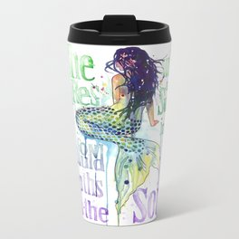 Mermaid : Profound Depths Metal Travel Mug