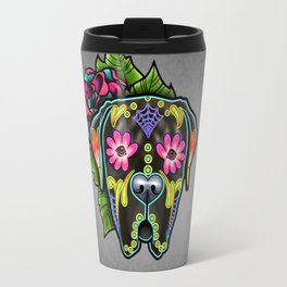 Mastiff in Brindle - Day of the Dead Sugar Skull Dog Travel Mug