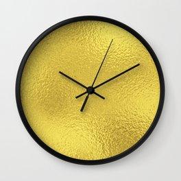 Simply Metallic in Yellow Gold Wall Clock